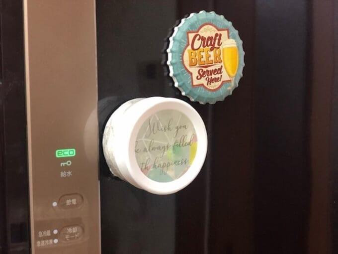 冷蔵庫に貼り付け