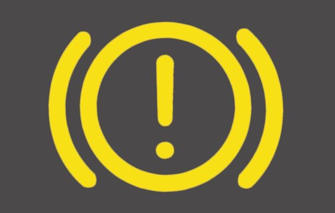 ブレーキ警告灯_アイコン黄色
